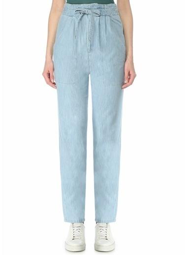 Etoile Isabel Marant Etoile Isabel Marant Muardo Beli Bağcıklı Denim Pantolon 101601863 Mavi